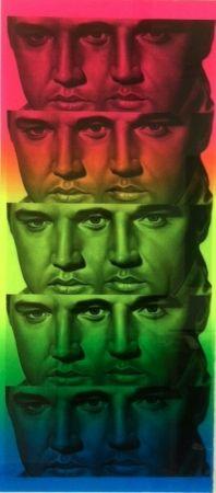 Monotypie English - Rainbow Elvis II