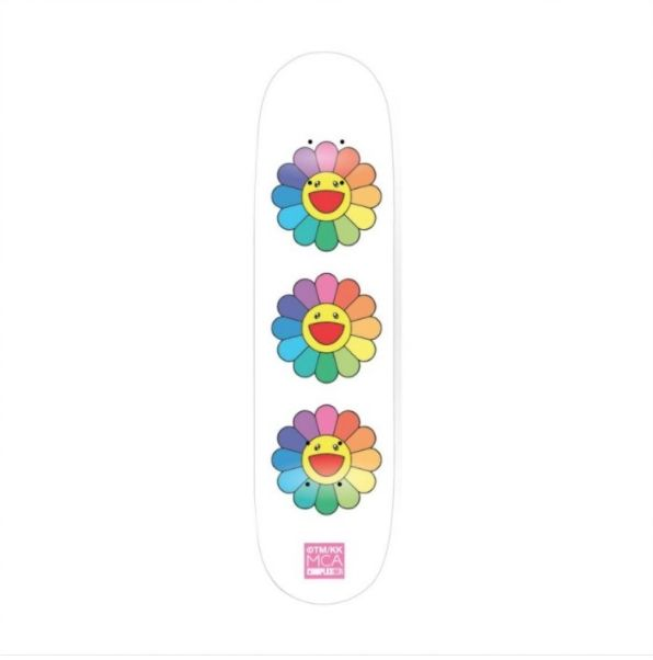 Keine Technische Murakami - Rainbow Flower Skate Deck