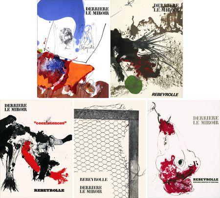 Illustriertes Buch Rebeyrolle - REBEYROLLE : Collection complète des 5 volumes de la revue DERRIÈRE LE MIROIR consacrés à Paul Rebeyrolle (parus de 1967 à 1976). 32 LITHOGRAPHIES ORIGINALES.