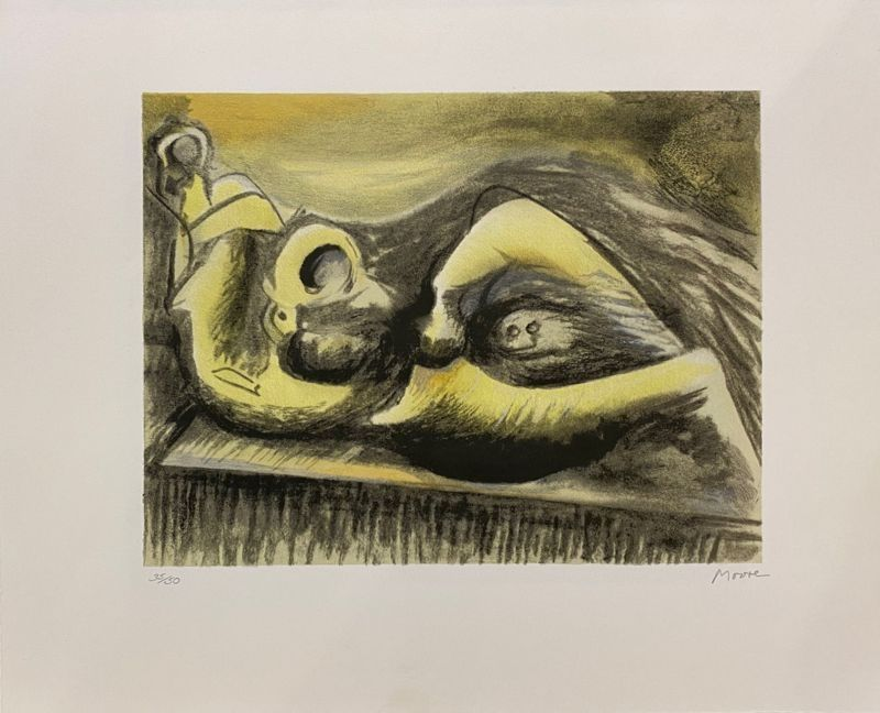 Lithographie Moore - Reclining Figure Idea for Metal Sculpture