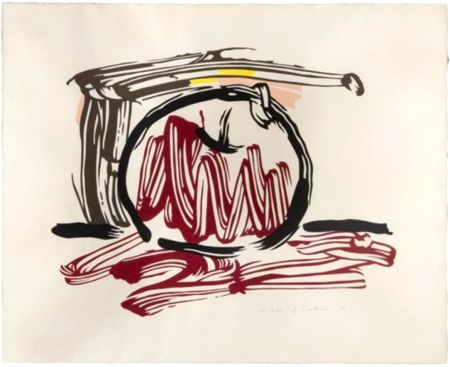Holzschnitt Lichtenstein - Red Apple, from Seven Apple Woodcuts Series (C. 196)