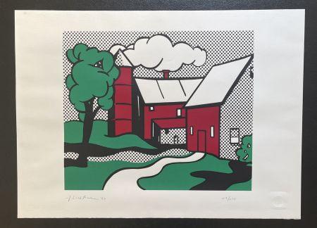 Siebdruck Lichtenstein -  Red Barn