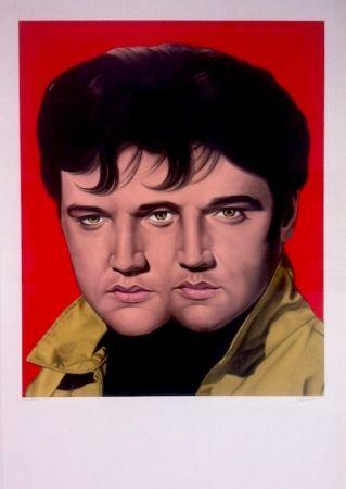 Monotypie English - Red Elvis