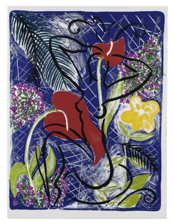 Siebdruck Szczesny - Red Flowers