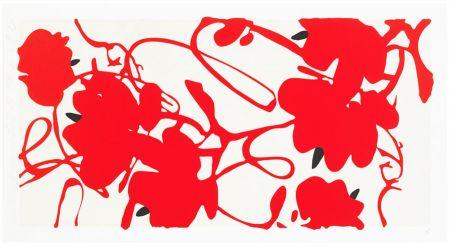 Siebdruck Sultan - Red Flowers