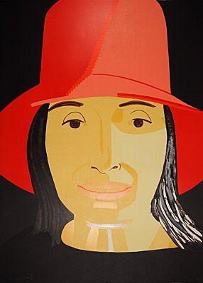 Holzschnitt Katz - Red Hat Ada