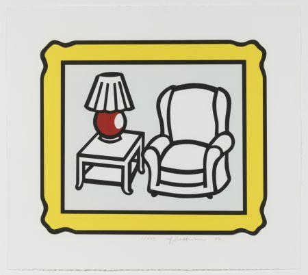 Lithographie Lichtenstein - Red Lamp