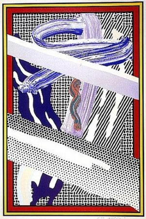 Siebdruck Lichtenstein - Reflections on an Expressionist Painting