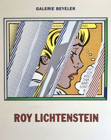 Lithographie Lichtenstein - 'Reflections on Girl' Hand Signed Exhibition Poster