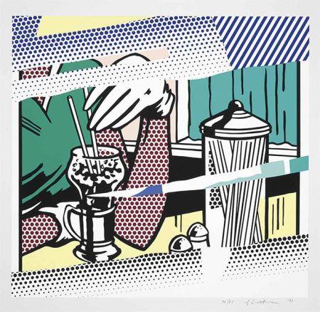Siebdruck Lichtenstein - Reflections On Soda Fountain
