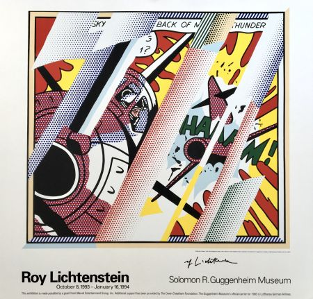 Lithographie Lichtenstein - 'Reflections: Whaam!' Hand Signed Exhibition Poster