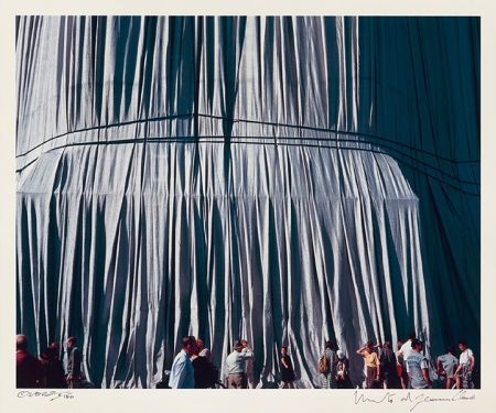 Fotografie Christo - Reichstag Mappe II, Faltenwurf