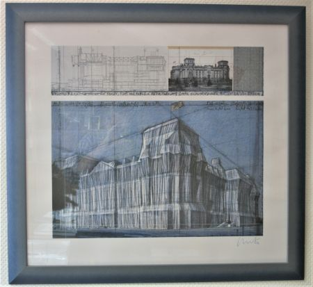 Digitale Druckgrafik Christo & Jeanne-Claude - Reichstag verhüllt