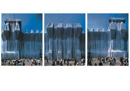 Fotografie Christo - Reichstag Westfassade Triptychon