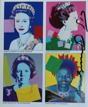 Siebdruck Warhol - Reigning Queens (invitation)