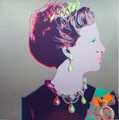 Siebdruck Warhol - Reigning Queens, Queen Margrethe II of Denmark