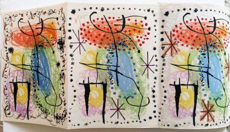 Illustriertes Buch Miró - René Cazelles. LA RAME ET LA ROUE. Lithographie de Joan Miro. 1960