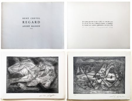 Illustriertes Buch Masson - René Crevel. REGARD. Gravure d'André Masson (1964)
