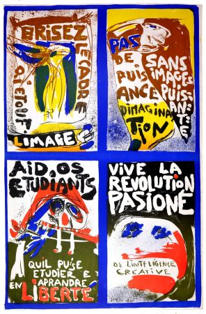 Lithographie Jorn - (Revolution plakat)