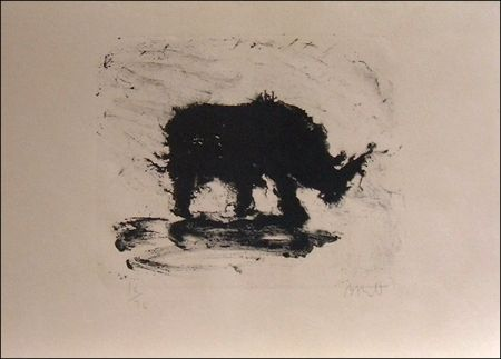 Lithographie Barcelo - Rhinoceros