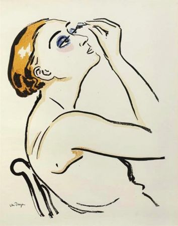 Lithographie Van Dongen - Rimmel