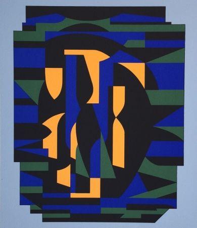Siebdruck Vasarely - Risir, From Ion Album