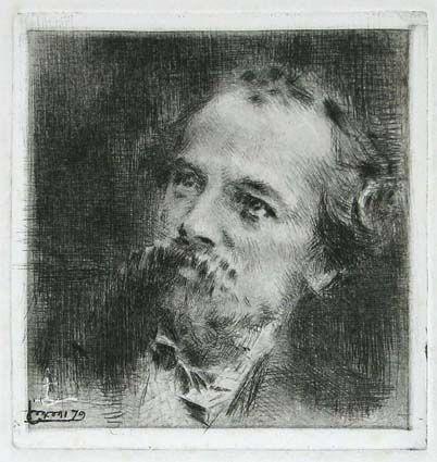 Stich Conconi - RITRATTO DI TRANQUILLO CREMONA (Portrait of Tranquillo Cremona)