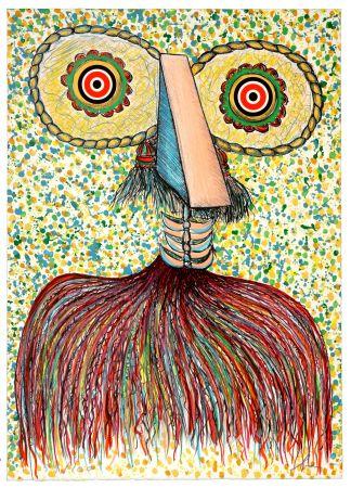 Lithographie Baj - Ritratto immaginario di Asger Jorn (Portrait imaginaire d'Asger Jorn)