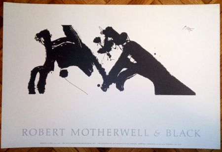 Plakat Motherwell - Robert Motherwell & Black