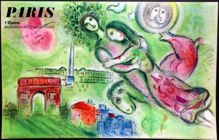 Plakat Chagall - Romeo et Juliette – Opera Paris