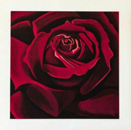 Siebdruck Nesbitt - Rose