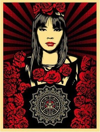 Siebdruck Fairey - Rose Girl