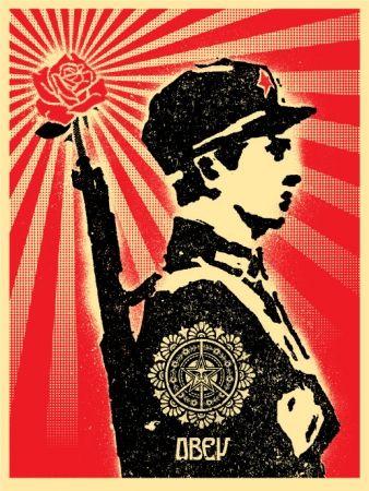 Siebdruck Fairey - Rose Soldier