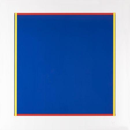 Siebdruck Knoebel - Rot, Gelb, Weiss, Blau 02