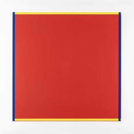 Siebdruck Knoebel - Rot, Gelb, Weiss, Blau 04
