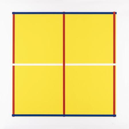Siebdruck Knoebel - Rot, Gelb, Weiss, Blau 05