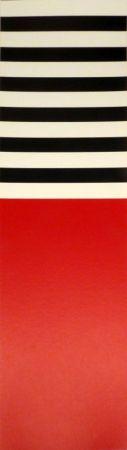 Siebdruck Nemours - Rot – weiss – schwarz