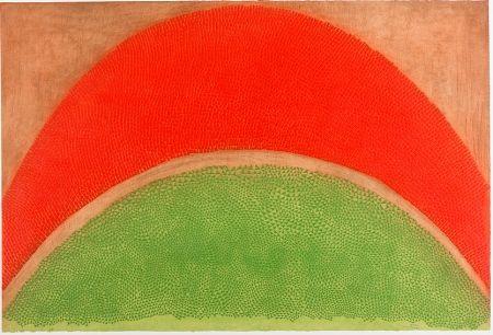Radierung Piza - Rouge-vert