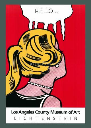 Lithographie Lichtenstein - Roy Lichtenstein 'Cold Shoulder' 1987 Original Pop Art Poster
