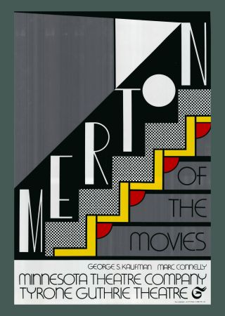 Siebdruck Lichtenstein - Roy Lichtenstein 'Merton Of The Movies' 1968 Original Pop Art Poster
