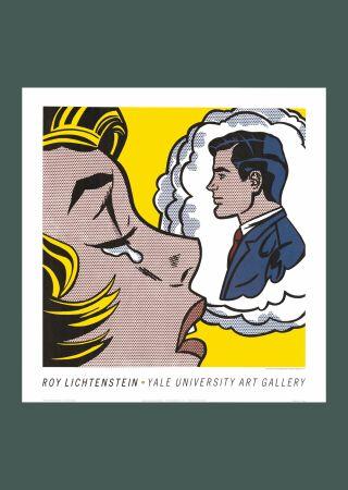 Keine Technische Lichtenstein - Roy Lichtenstein 'Thinking of Him' 1991 Original Pop Art Poster Print