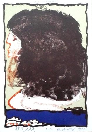 Lithographie Alechinsky - Rue Serpente