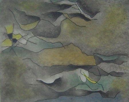 Aquatinta Singier - Sable et Eau