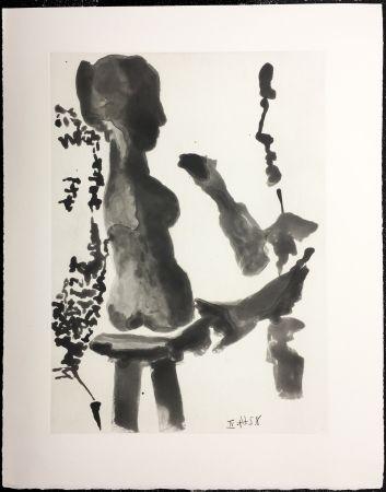 Radierung Und Aquatinta Picasso - SABLE MOUVANT Plate n°9. 1964