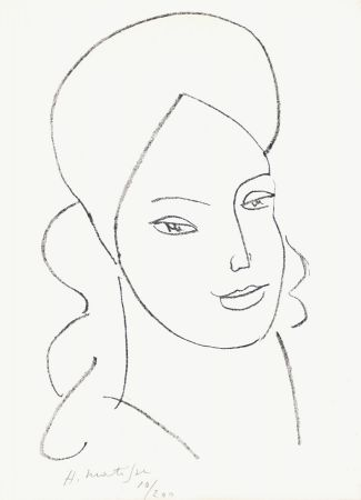 Lithographie Matisse - Saint Catherine, 1946