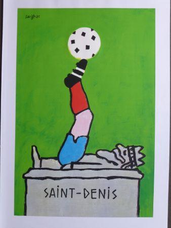 Plakat Savignac - Saint Denis (coupe du monde de football) 1998