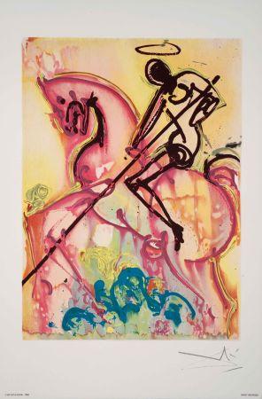 Lithographie Dali - Saint Georges Et Le Dragon