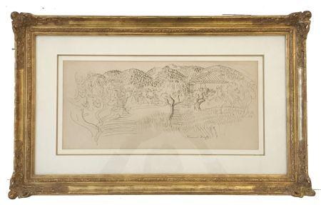 Keine Technische Dufy - Saint Paul de Vence (c. 1925)