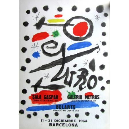 Plakat Miró - Sala Gaspar - Metras - Belarte