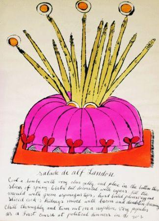 Lithographie Warhol - Salade de Alf Landon